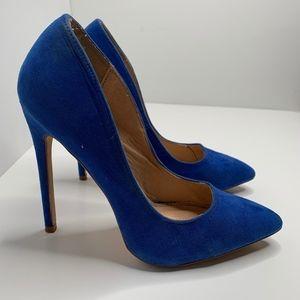 Liliana |  Blue Pointy Toe Classy Heel
